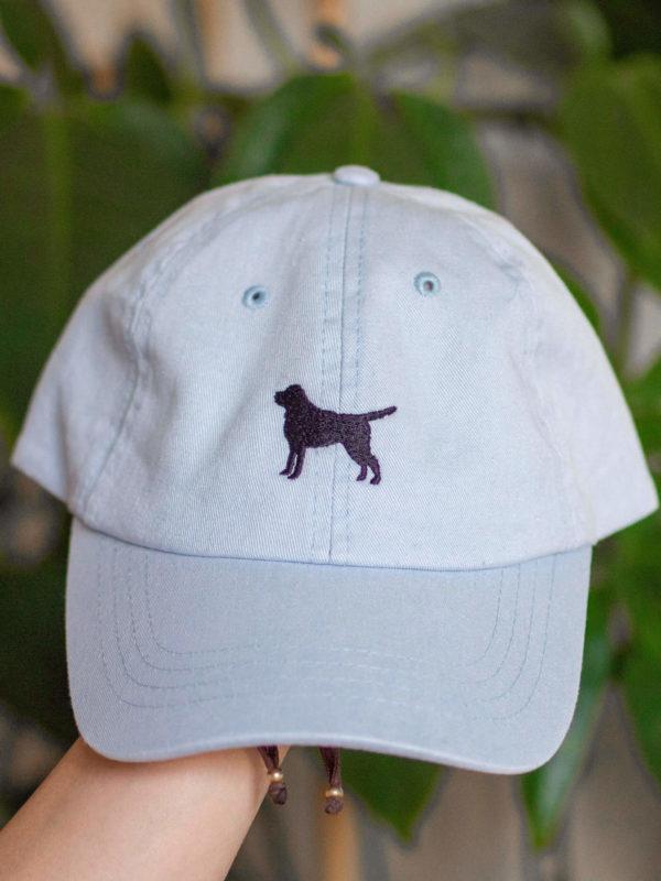 czapka z labradorem jasnobrązowa