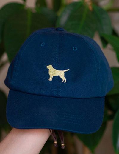 czapka z labradorem granatowa